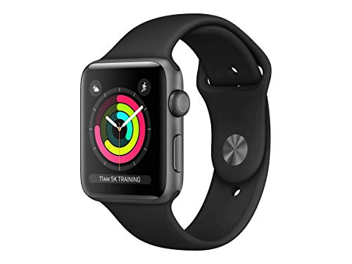 Apple Watch Series 3 (GPS, 42MM) - Space Gray Aluminum Case with...