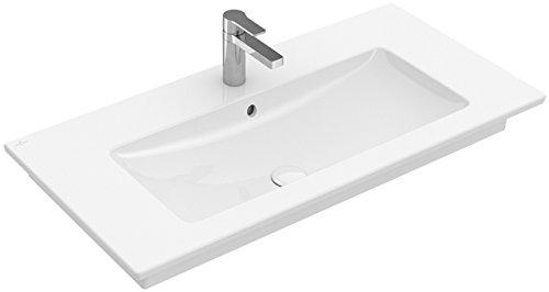 Villeroy&Boch Schrank Waschtisch Venticello 4104 800x500mm ohne Hahnloch Eckig Stone White C+