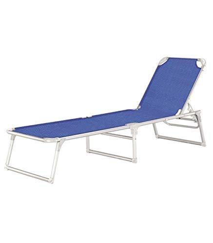 Papillon 8043400 Tumbona Playa Aluminio Cama Thera Azul