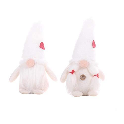 Supvox 2 stücke Weihnachten plüsch GNOME Puppe Weihnachten Santa tomte Figuren Weihnachten tischdekoration Weihnachten Spielzeug Geschenk für Kinder Erwachsene (weiß)