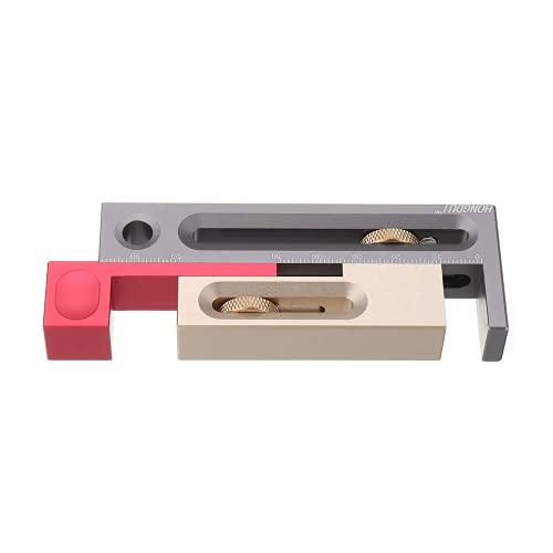 LIZHOUMIL - Ajuste de ranura de sierra de mesa, herramienta de trabajo de madera de aleación de aluminio
