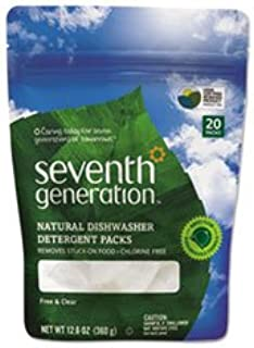 (3 Pack Value Bundle) SEV22818 Natural Automatic Dishwasher Detergent, Unscented, 20 Packets