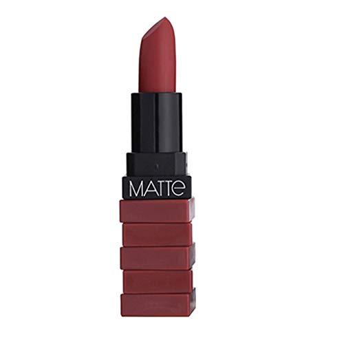 Rouge à Lèvres Mat, ROMANTIC MAY Imperméable Rouge à Lèvres Mat Couleur Citrouille Rouge à Lèvres Manger De La Terre Vitamine E Riche Humidité