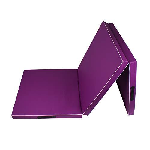 Calma Dragon 85620, Colchoneta Gimnasia, Espuma PU, Impermeable, 3 Paneles Plegables, 60 x 180 x 6cm, Resistente, Antideslizante, Compacta, Ligera, para Yoga, Pilates