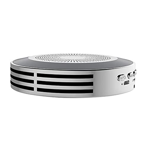 ZEIYUQI Malla de Acero del Metal Multifuncional del Sonido Envolvente de Alta Fidelidad del Altavoz Bluetooth Colorido,Silver