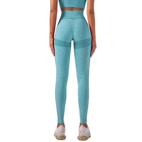 Pantalones de Yoga sin Costuras Medias de Fitness Anti-Sentadillas para Mujer Entrenamiento Abdomen Eliminación de Grasa Pantalones de Yoga Pantalones de Fitness B S