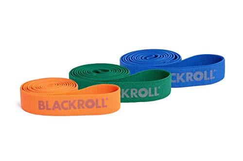 BLACKROLL - Fitnessbänder in 3er SUPER BAND Set: orange, grün, blau, Größe 104 cm