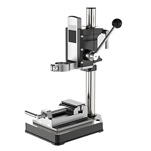 LXX Benchtop Drill Presses, Drill Press Stand for Hand Drill, Drill Press Stand with Vise, Adjustable Drill Press Work Station Workbench Wood Drilling Machine for DIY