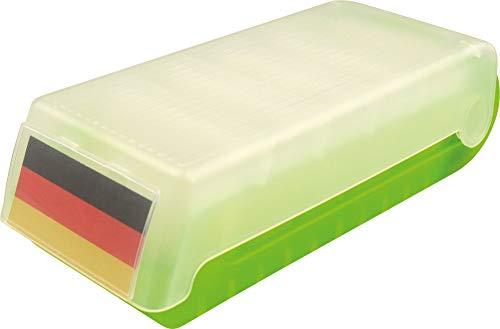"""Helit H6901159 - Lernkartei und Aufbewahrungsbox \""""the beebox\"""" DIN A7 quer, grün transluzent"""