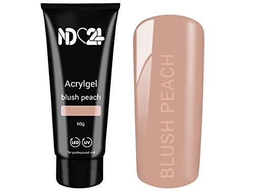 60g POLY ACRYLGEL TUBE blush peach - LED/UV Acryl Gel - Nägel Modellage System - Studio Qualität MADE IN GERMANY