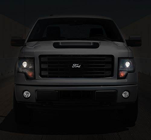 F-150 Trucks & Explorer Front Grille Black Emblem White Light Up LED