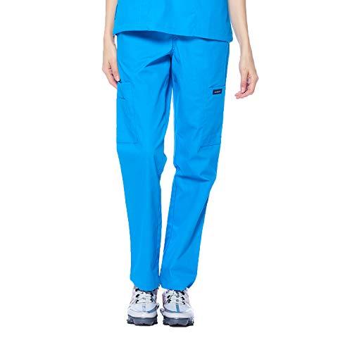 Dagacci Scrubs Medical Uniform Women and Men Unisex Scrubs Pants Medical Scrubs Pants X-Large Turquoise