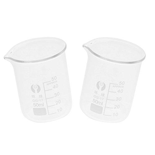 Sharplace 2pcs Bécher Bec Gradué De Laboratoire Tasses de Mesure Verseur Outil de mesure - 50 ml