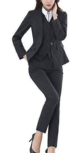 LISUEYNE Damen 37-teilig Anzug Office Lady formelles Blazer Business Suit Set Damen Suits Arbeit Rock/Hose,Weste Sakko