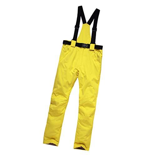 CUTICATE Wasserdicht Softshellhose Outdoorhose Skihose Snowboardhose Schneehose Winterhose - Gelb, M