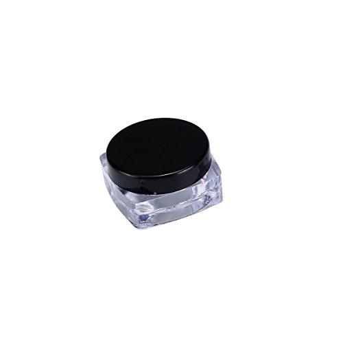 TININNA 25 Pcs 5ml 5 Gramme Pot Contenant en Plastique Vides Boîte Cosmétiquqe Maquillage Stockage Containers Jars pr Fard à Paupières Poudre Crèmes Noir