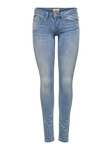 Only Onlcoral SL SK Jeans BB Cre185063 Vaqueros Skinny, Azul (Light Blue Denim Light Blue Denim), 38 /L32 (Talla del Fabricante: 30.0) para Mujer