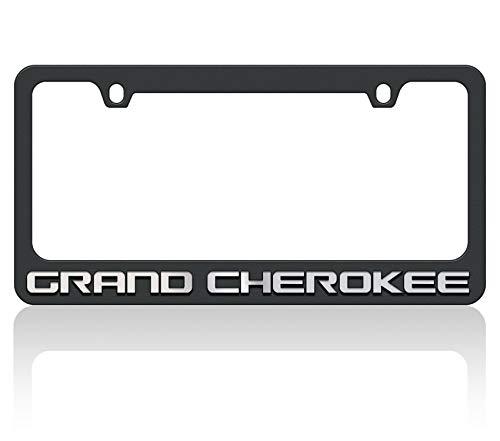 Eurosport Daytona Black License Plate Frame- 2018 JEEP Grand Cherokee W/O Mirror Word