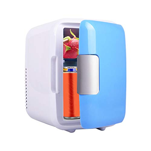 Mini Fridge Portable Compact Refrigerator Cooler and Warmer for Skincare, Foods, Office, Dorm, Car, Blue