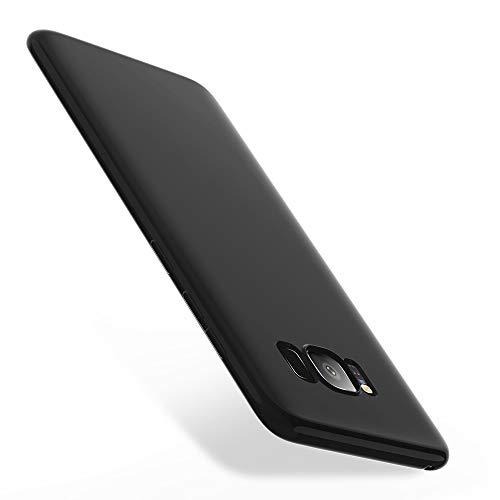 X-level Cover Samsung Galaxy S8 Silicone, Custodia Samsung Galaxy S8 Silicone Slim Cover Antiurto con Morbida Microfibra Fodera, Ultra Sottile Protettiva Cover per Samsung Galaxy S8, Nero