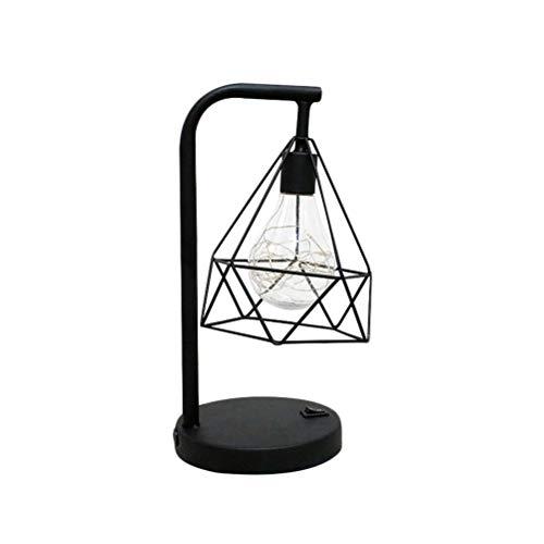 Uonlytech - Lámpara LED de alambre de cobre artificial de hierro para decoración de mesas, mesas, mesas, dormitorios, casas