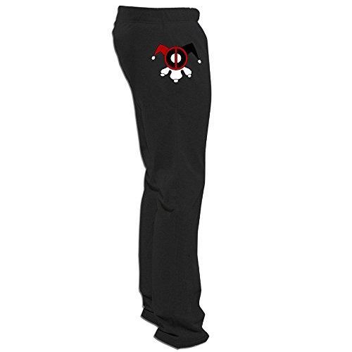 nntbj Hombres de Deadpool y Harley Quinn pantalón chándal