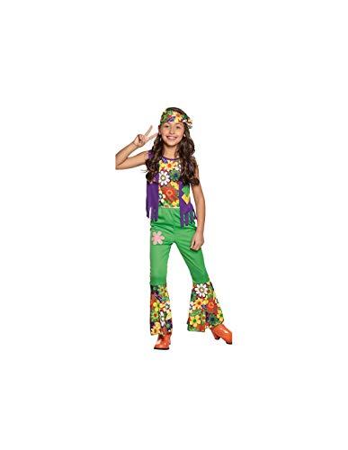 DISBACANAL Disfraz Hippie Flores para niña - -, 10-12 años