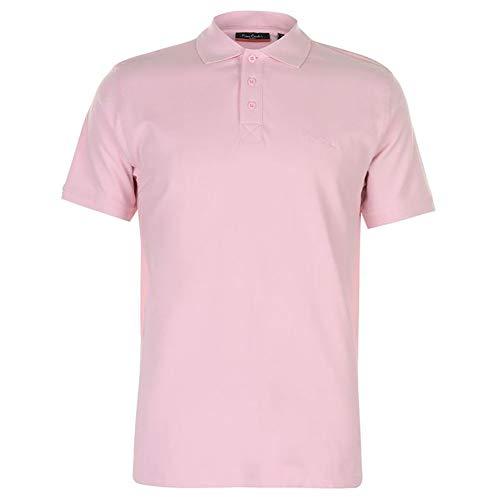Pierre Cardin Homme Polo Classique Coton Première Qualité (XL, Light Pink)