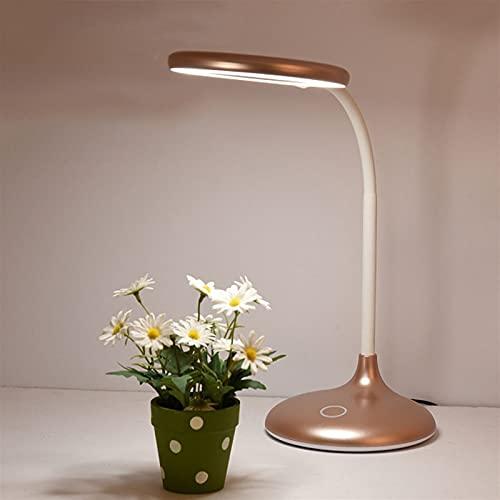 Salón dormitorio lámpara LED 6W Escritorio Sensible con la luz Control táctil Energía-eficiente de energía y Lámpara de mesa de cuidado ocular Portátil y compacta Dimmable Oficina de LED Memoria Luz F