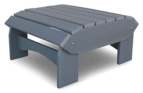 Original Dream-Chairs since 2007 Adirondack Footrest Comfort Plastic in White Available in Three Colours (Grey)