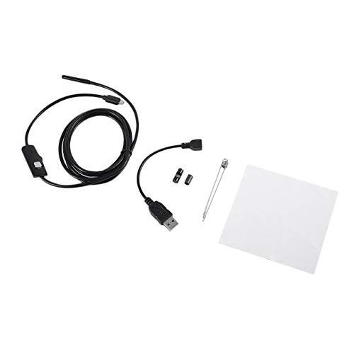 Ballylelly 2 Mt 6LED 5,5mm Objektiv 720 P Endoskop Wasserdicht Inspektions Endoskop für Android Fokus Kamera Objektiv USB Kabel Wasserdicht Endoskop