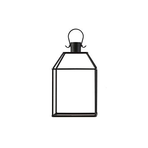 MLHJ Stand de Fleurs- Support de Fleur portatif, Support décoratif de Plante de Balcon de Jardin de Support de Pot de Fleur de Plancher de Fer forgé (Couleur : Noir, Taille : 13 * 20 * 32cm)