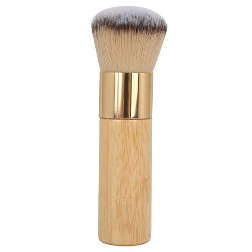 Pintura suelta, suave, a largo plazo, práctica, fibra artificial, maquillaje en polvo, brocha, polvo fácil de adherir, con mango de madera antideslizante para el juego de maquillaje para