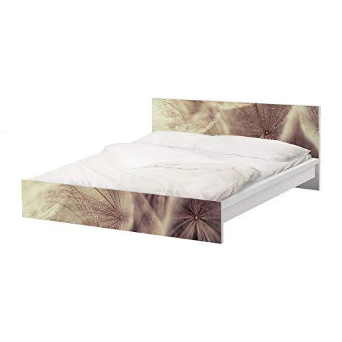 Apalis Möbelfolie für IKEA Malm Bett 180x200cm Pusteblumen Vintage Blur Effekt 77x197cm
