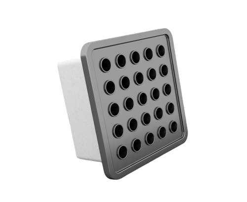 Rejilla de ventilación automática activa Modern 140 mm x 140 mm (gris)