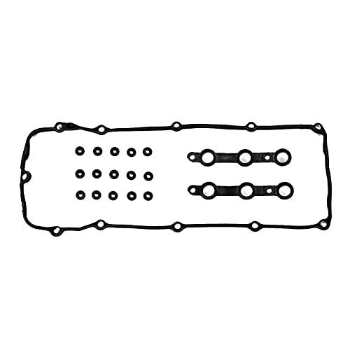 Donepart Compatible for Valve Cover Gasket with Grommets for M54 E46 E39 E83 E53 325i 330i 325Ci 323Ci 323i 325xi 328Ci 328i 330Ci 330xi 525i 528i 530i X5 Z3 2002-2006
