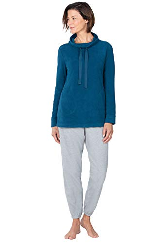 Addison Meadow Fleece Pajamas for Women - PJs for Women Set, Teal, L, 12-14