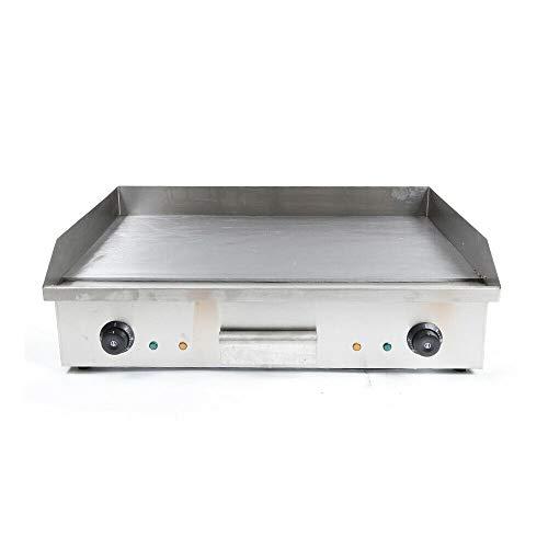 4400W Elektrische Grillplatte Gastronomie Griddleplatte BräTer Elektrogrill Grill Bratplatte BräTer Griddleplatte Griddle 220V FüR GleichmäßIg Gegrilltes
