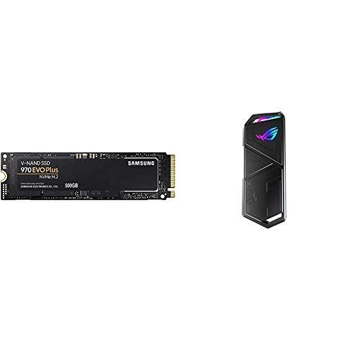 Samsung MZ-V7S500BW 970 EVO Plus 500 GB + ASUS ROG Strix Arion M.2 NVMe-SSD-Gehäuse