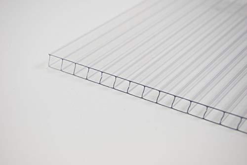 Stegplatte 10mm aus Polycarbonat, klar, Steg 2 Fach, 10-10 - Zuschnitt möglich! 1050mm x 2000mm (B x T)