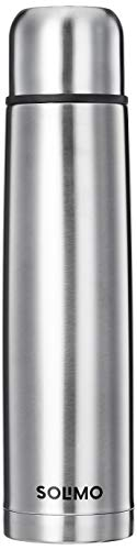 Amazon Brand - Solimo Stainless Steel Insulated Flask With Flip Lid And Cover, 24 Hours Hot Or Cold (Silver,1000ml)