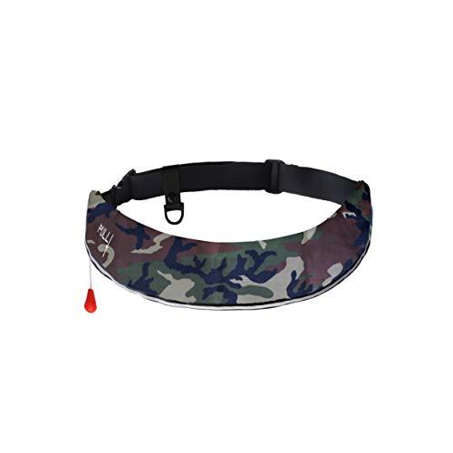 インフレータブル ライフジャケット 手動/自動膨張式 ベルトタイプ 救命胴衣 CE(EU)/ISO認証取得済 (迷彩グリーン)