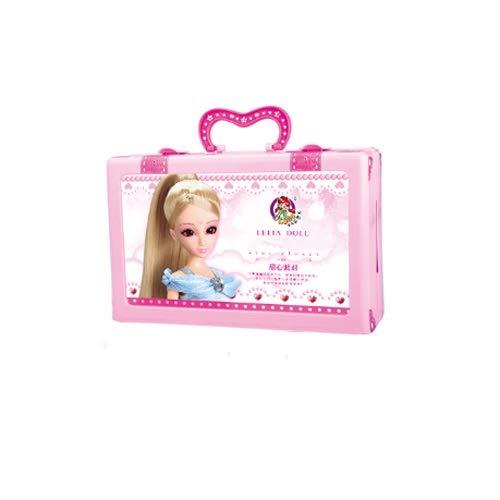Lihgfw Puppe Set Geschenkbox Stern Garderobe Play House Simulation Princess Mädchen Spielzeug 3D-glänzende Schönheit Kontakte Mode Prinzessin Kleid, bewegliche Geschenk-Box-Verpackung