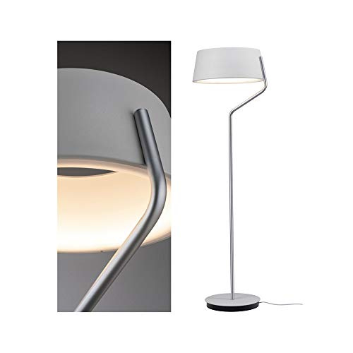 Paulmann 79721 LED Stehleuchte Belaja incl. 1x22 Watt dimmbar Stehlampe Weiß, Chrom matt Standleuchte Warmweiß 2700 K