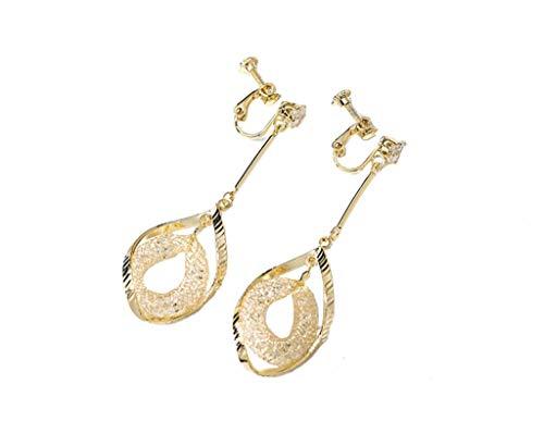 Kronleuchter Pendientes Mujer 925 Pendientes de Aguja de Plata Temperamento Largo Diseño en Espiral Pendientes Pendientes de Oro Champagne (Style : Champagne Gold Spiral Ear Clips)