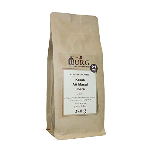BURG Kenia AA Masai Josra Kaffee Gewicht 250 g, Mahlgrad ungemahlen