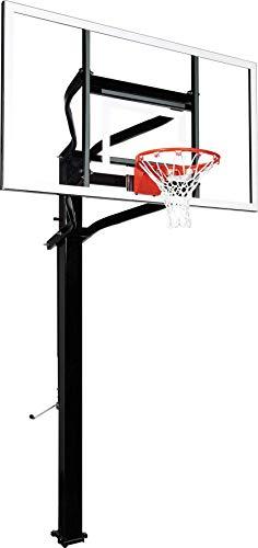 Goalsetter X672 Extreme Series Basketball System - 72-Inch Glass Backboard - HD Breakaway Rim