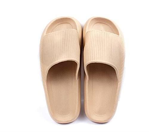 YZDKJ Coppia Bagno Anti-Slip Slifts Estate Donne Donne Casa Interno Sandali a Piattaforma Spessa Pure Pure Color Scarpe da Spiaggia Soft Sole Flip Flop (Color : Beige, Shoe Size : 44-45(280 mm))
