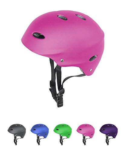 LA Sports Junior Kids/Childs/Childrens PINK Girls Urban Skate Helmet Ideal For Skateboard, BMX and Stunt Scooter