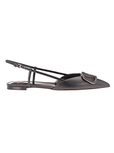 Luxury Fashion | Valentino Garavani Dames TW2S0R02MZF0NO Zwart Leer Ballerina's | Lente-zomer 20